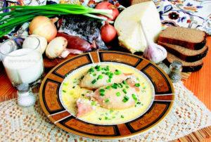 Фаршированные кальмары в сливках – Фото рецепт