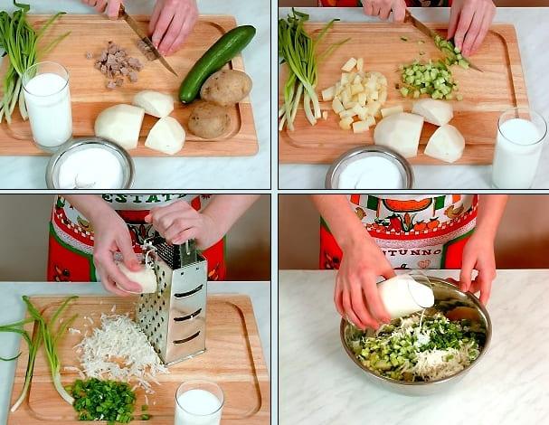 Окрошка на кефире рецепт пошагово с фото