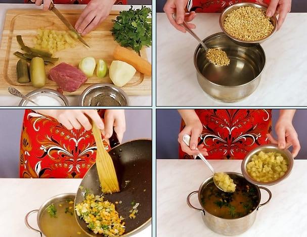 Рассольник приготовление рецепт с фото