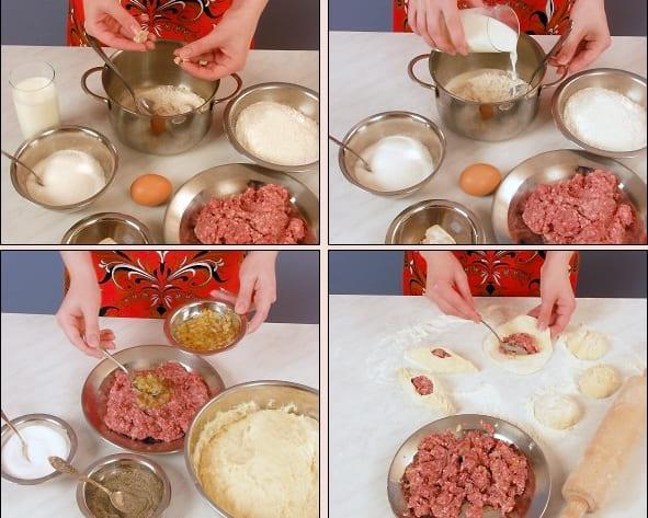 Рецепт расстегаев с мясом с фото пошагово