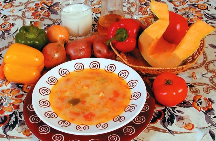 Пошаговый рецепт с фото вкусного супа из тыквы