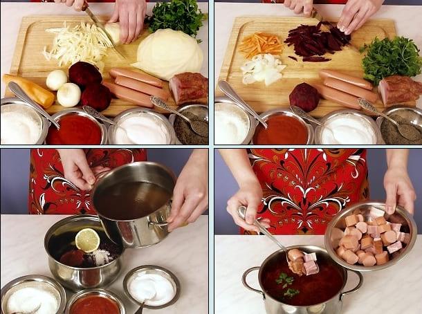 Московский борщ рецепт пошаговый с фото