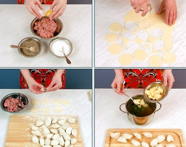 Пошаговый рецепт супа с пельменями