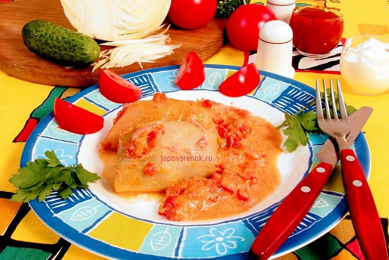 Голубцы с томатной пастой и бараниной