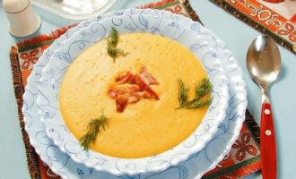 Как приготовить суп пюре гороховый с копченостями?