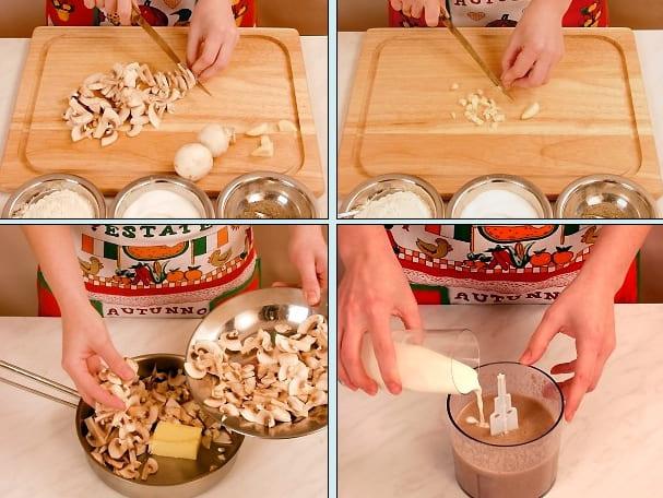 Как приготовить грибной суп пюре?