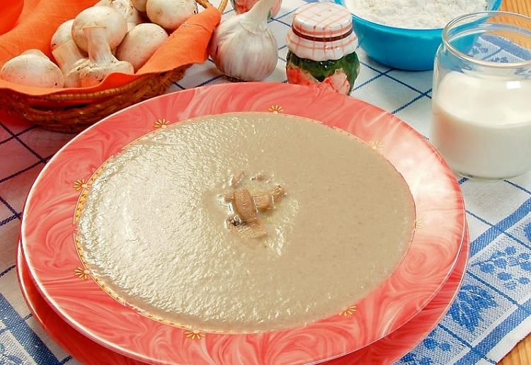 Грибной суп-пюре из белых грибов
