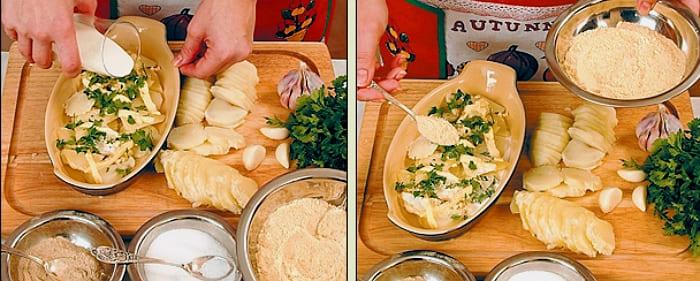 Картофель, запеченный в духовке с сыром