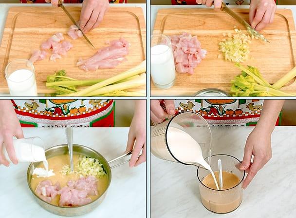 Рецепт супа пюре с куриной грудкой и сливками