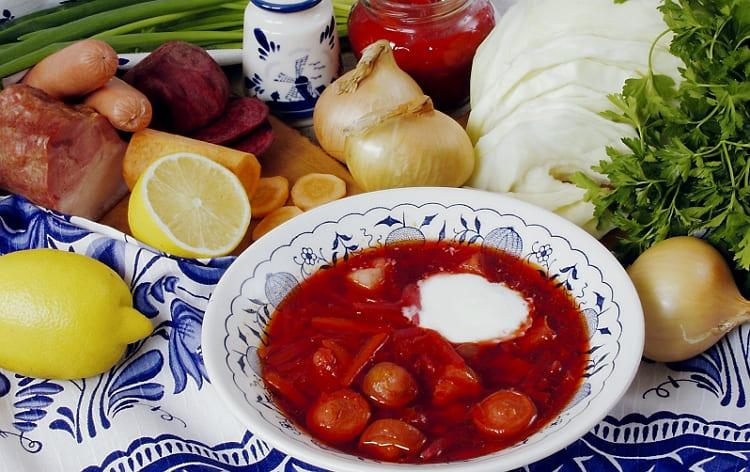 Первые блюда на каждый день - борщ московский рецепт классический