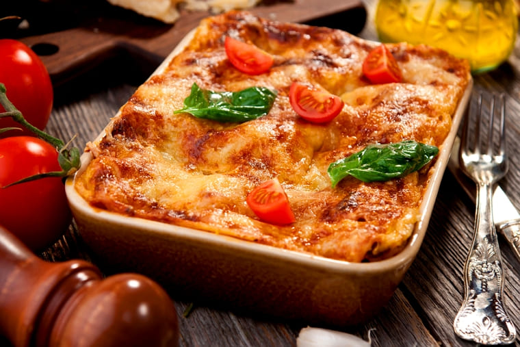 Лазанья с овощами, с сыром в духовке