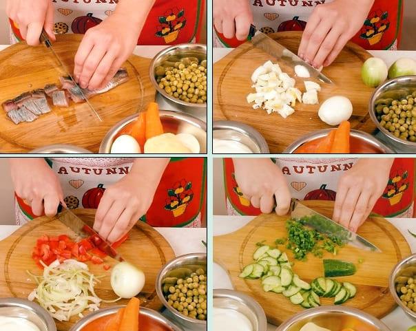 Как приготовить салат из сельди и овощей