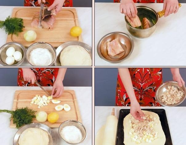 Как приготовить рыбный закрытый пирог с осетриной