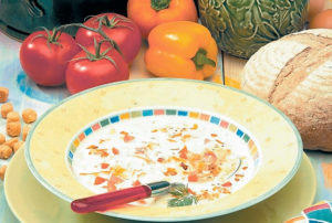 Суп овощной с молоком без мяса