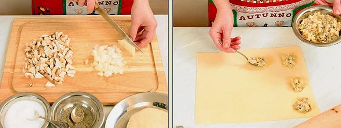 Равиоли с грибами рецепт с фото пошагово