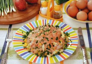 Салат из окуня К ужину