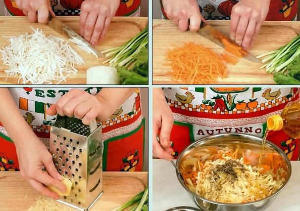 Постный салат из овощей