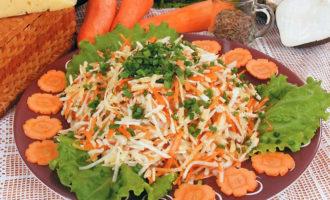 Постный деревенский салат овощной