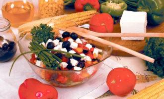 Греческий салат с брынзой рецепт с фото