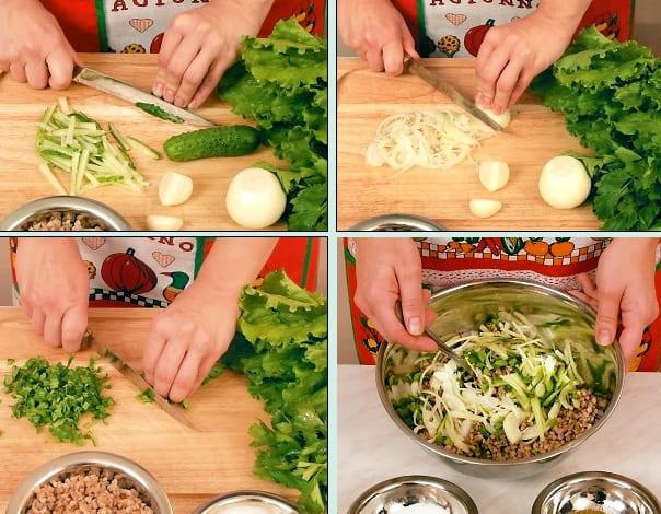 Салат Купеческий с гречкой и овощами
