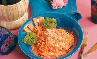 Рецепт салата из моркови Лакомка