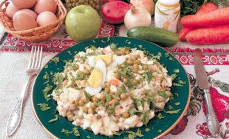 Салат Оливье рецепт классический с курицей