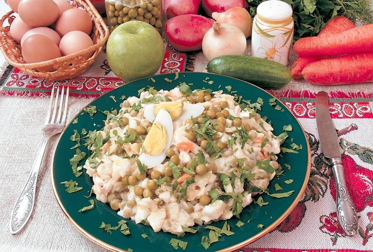 Салат Оливье рецепт с курицей