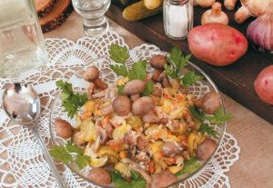 Салат с грибами – Закусочный
