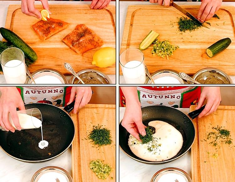 Как приготовить семгу с соусом