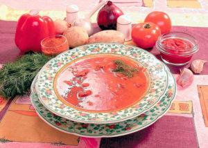 Суп – гуляш из говядины