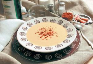 Суп-пюре с креветками и сливками