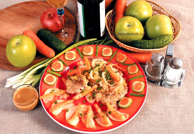 Свинина с тушеными яблоками пошаговый рецепт с фото