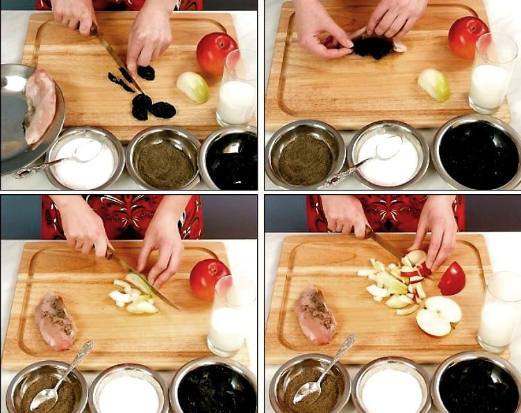 Фаршированное филе курицы пошаговый рецепт с фото