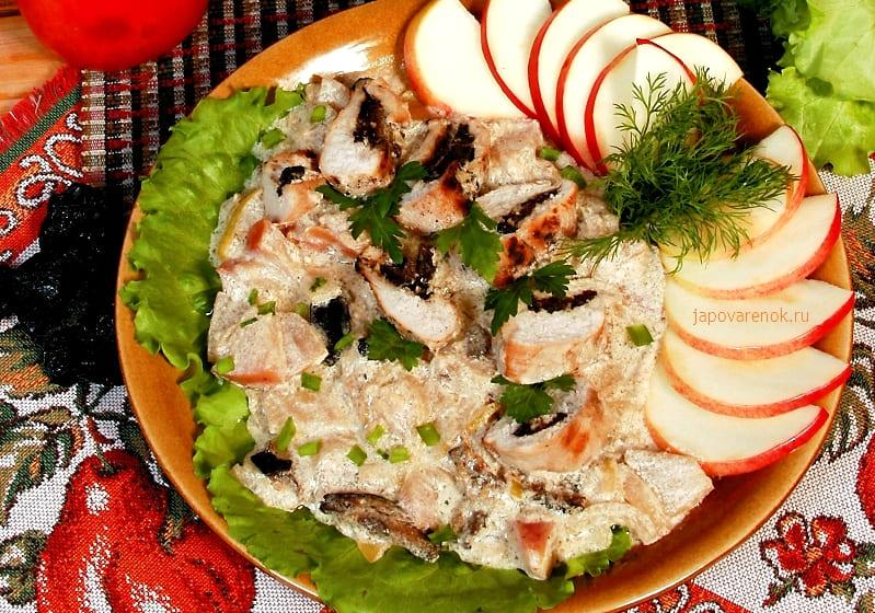 Вкусный рецепт - фаршированное филе курицы черносливом