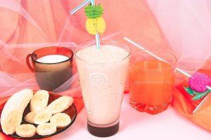 Коктейль из сока и фруктов