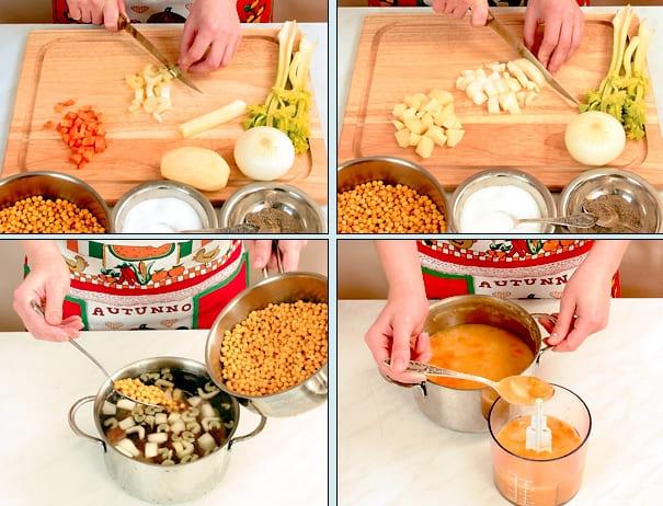 Суп пюре гороховый с копченостями пошаговый рецепт