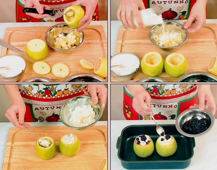 Яблоки фаршированные и запеченные в духовке