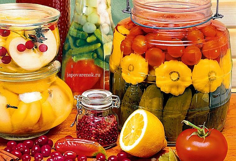 Овощное ассорти на зиму по-украински