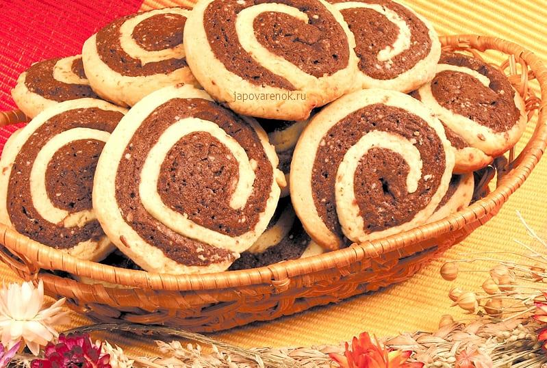 Двухцветное песочное печенье рецепт