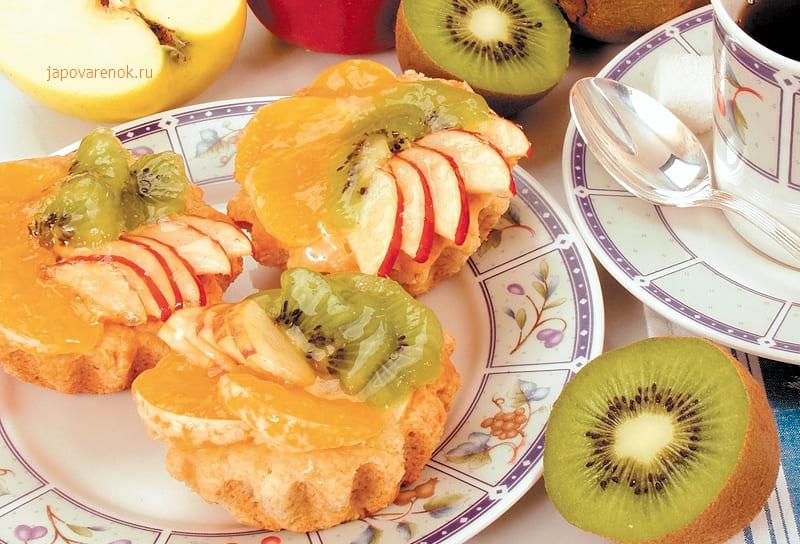 Песочные фруктовые корзиночки