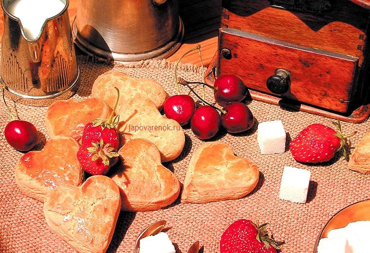 Вкусное песочное печенье с орехами