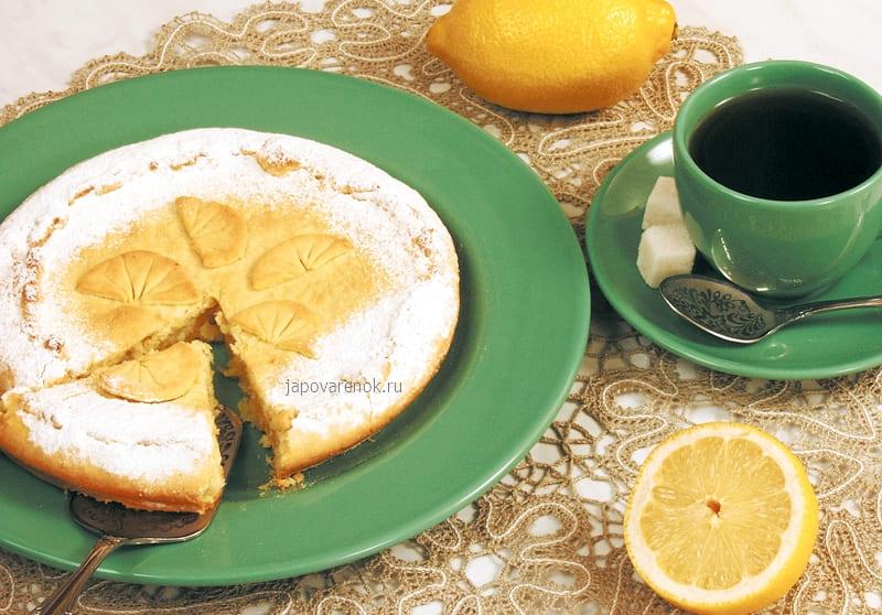 Песочный пирог с лимоном рецепт приготовления