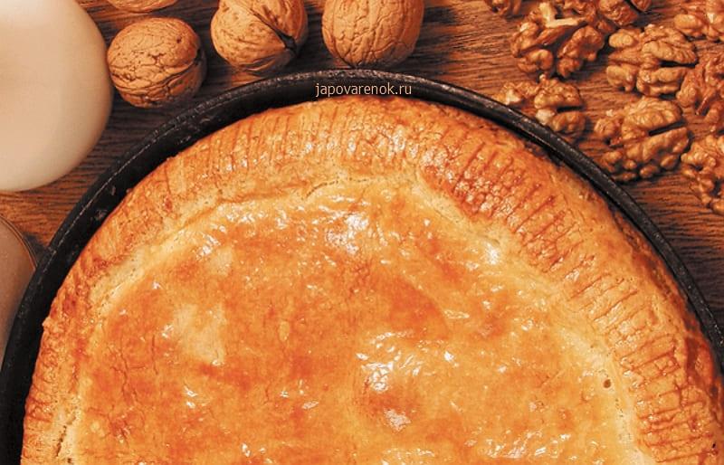 Пирог с грецкими орехами в духовке