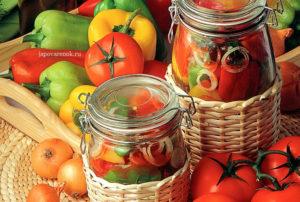 Болгарский перец с помидорами на зиму