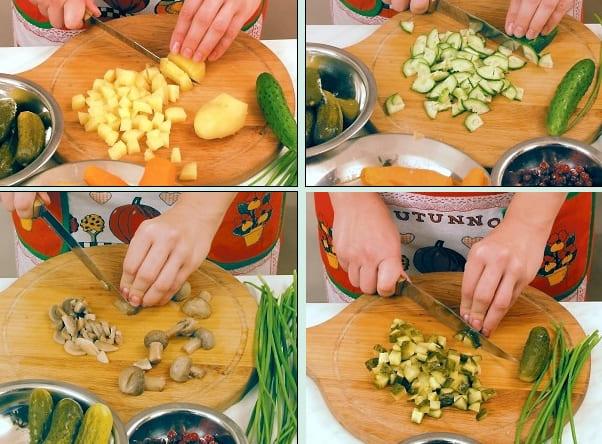 Как приготовить вкусный грибной салат