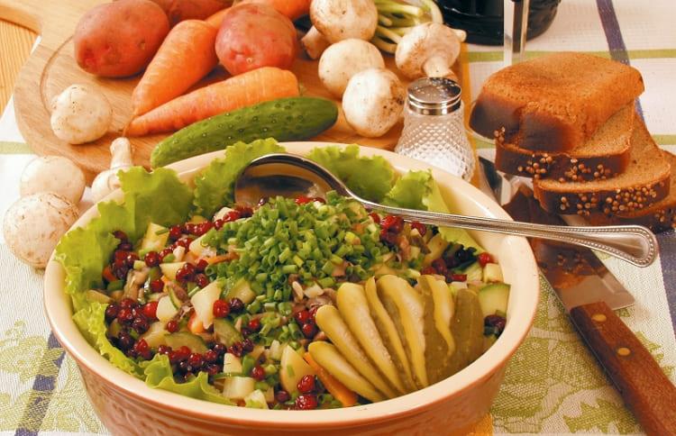 Рецепт грибного салата пошаговое фото