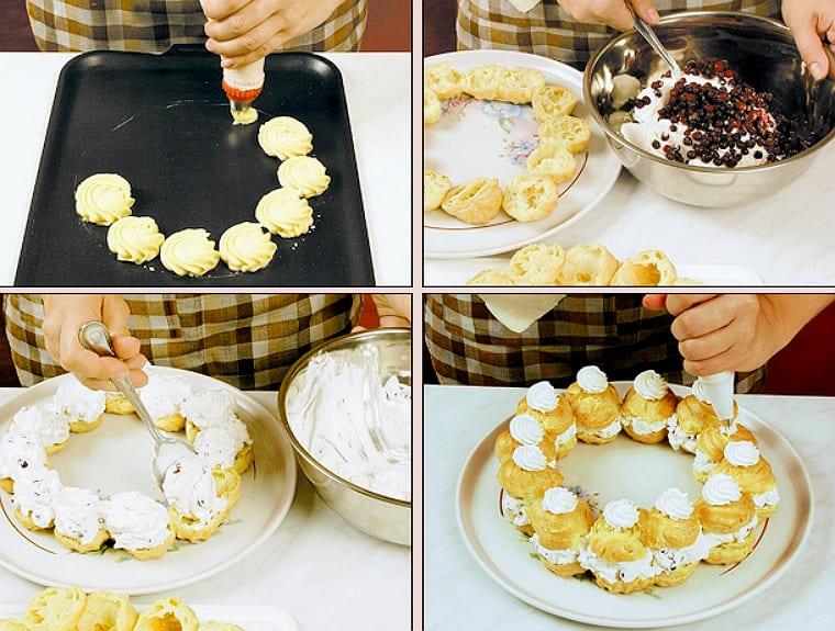 Заварные пирожные - Брусничный венок