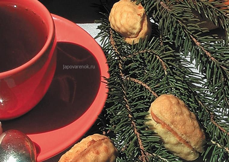 Печенье шишки со сгущенкой