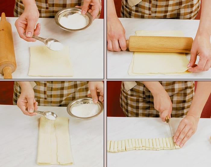 Печенье из слоеного теста с сахаром ушки