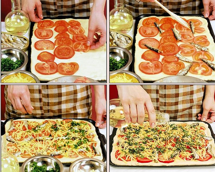 Готовим пиццу со шпротами